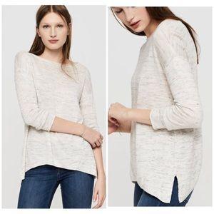 Lou & Grey🌿Heathered Gray Siderib Flowy Sweater